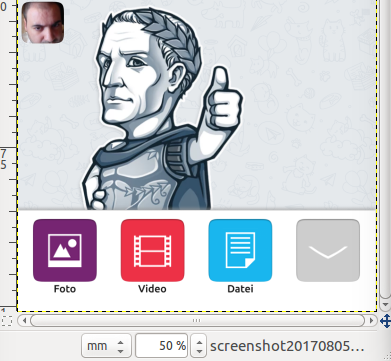 telegram share buttons mockup