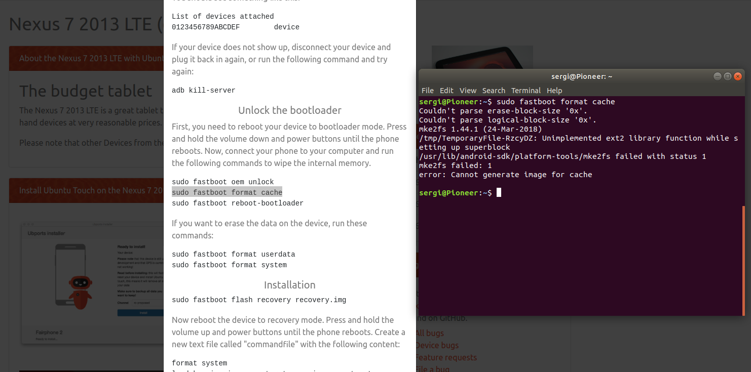 Error preparing Ubuntu Touch on Nexus 7 (WiFi) | UBports Forum